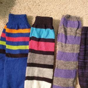 2/$20 strip leg warmers hand gloves on trend warm